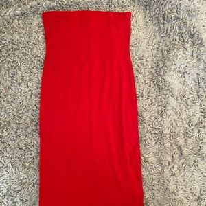 Red Tight Fitted Dress.